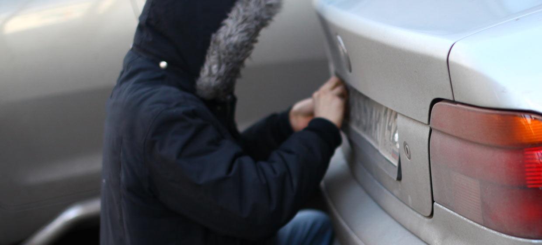 украли номера от машины