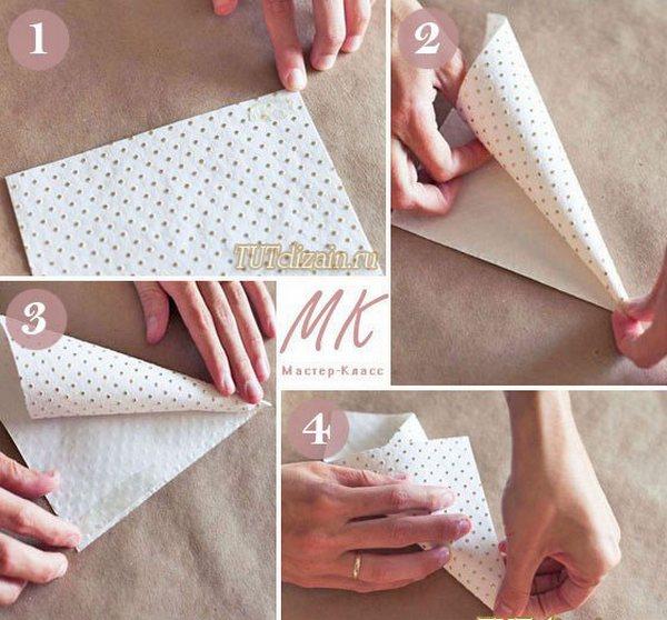Кулечки для лепестков роз — мини-МК. Фото с сайта masterpodelok.com