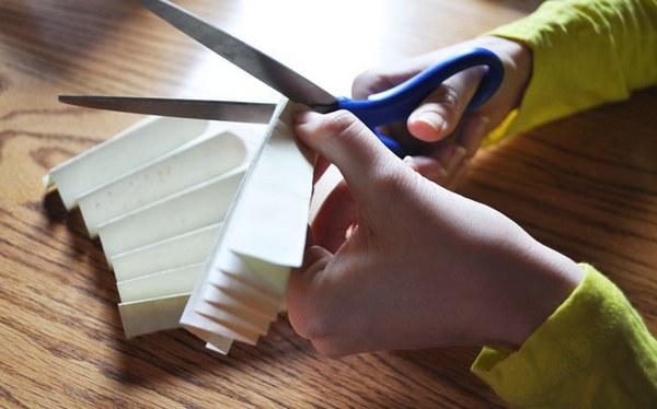 Один конец гармошки можно закруглить. Фото с сайта http://weddingdiary.ru/