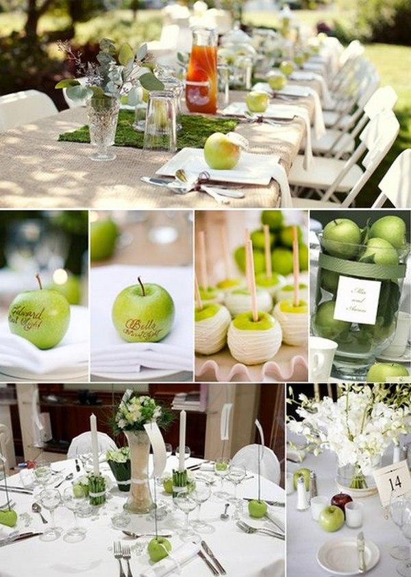 Идеи оформления яблочной свадьбы. Фото с сайта vk.com