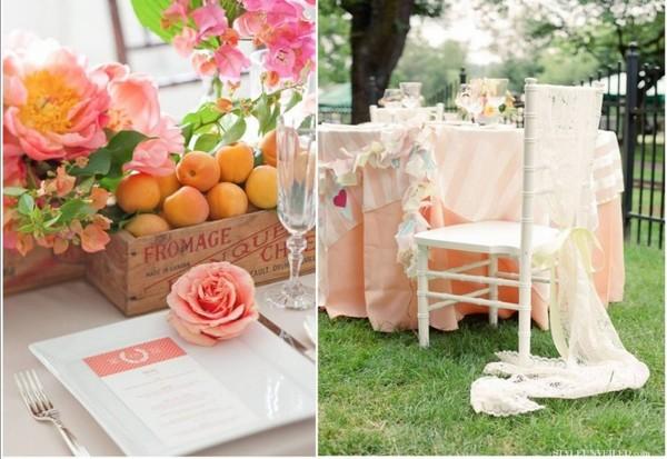 Дизайн персиковой свадьбы. Фото с сайта my-svadba.ru