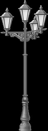 Декоративная литая опора в классическом стиле, высота от 4 до 5,5 м