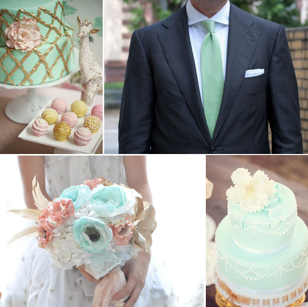 Мятные акценты. Фото с сайта wedding.alldon.ru